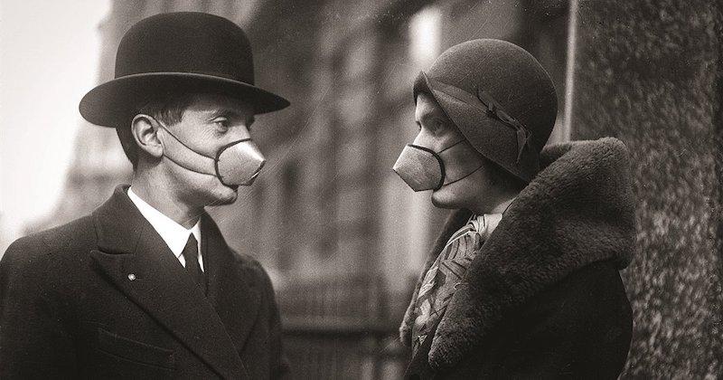 influenza spagnola mascherina