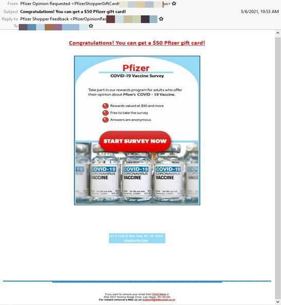 truffe online vaccino Pfizer
