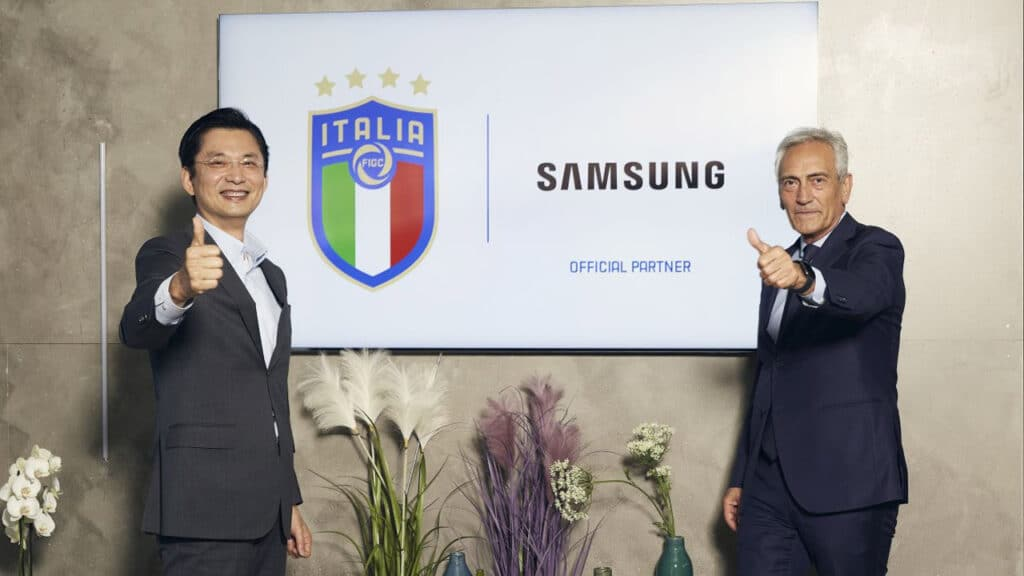 samsung sponsor FIGC - Federazione Italiana Giuoco Calcio