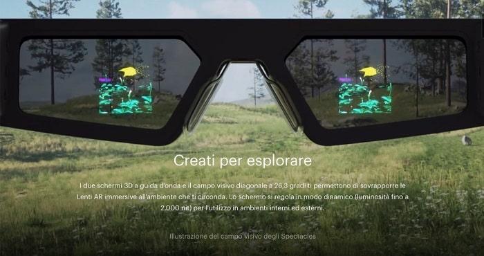 snap spectacles 4 realtà aumentata occhiali-min