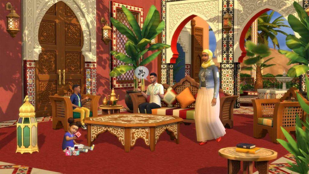 The Sims 4 Kit Oasi in Giardino