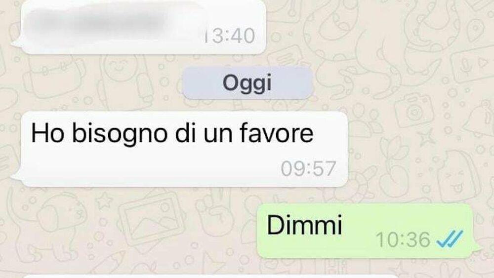 truffa whatsapp messaggio amici