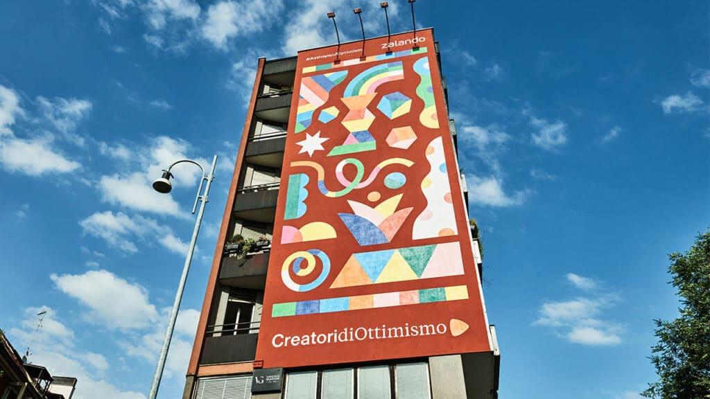 Comunità LGBTQI+ pride Zalando - murales Camilla Falsini