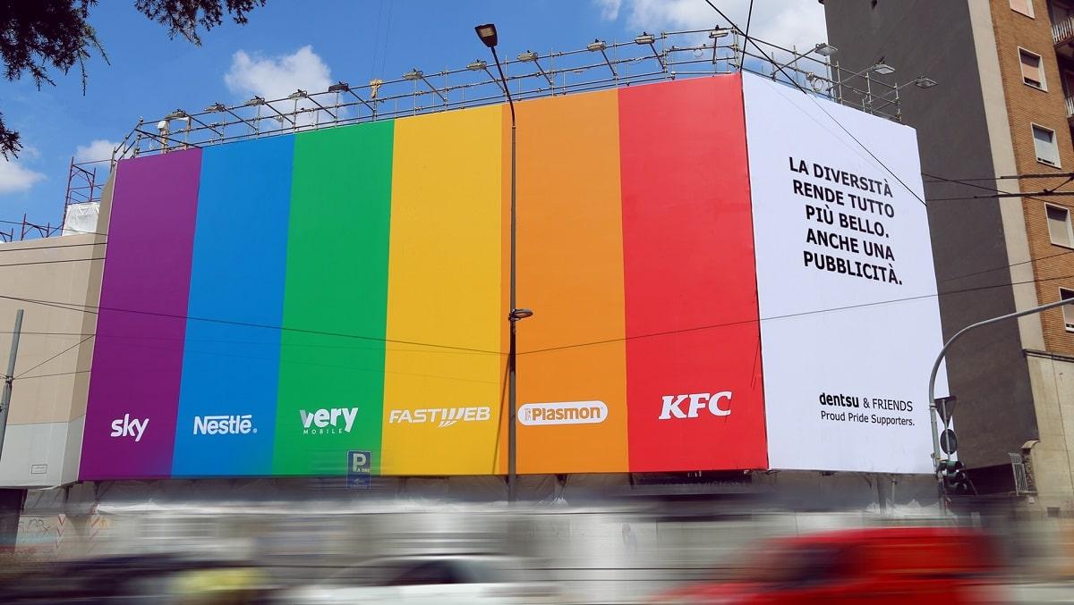dentsu celebra il Pride con una campagna pubblicitaria multi brand thumbnail