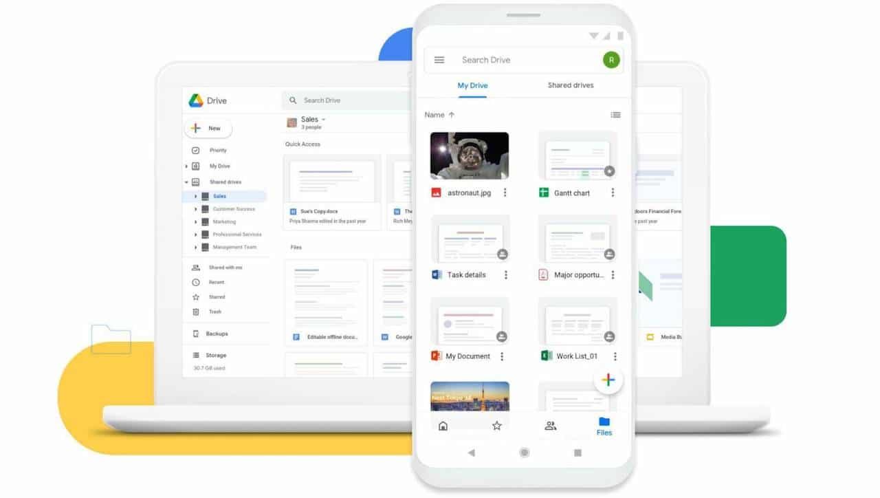 Android 12 arriva su Google Drive thumbnail