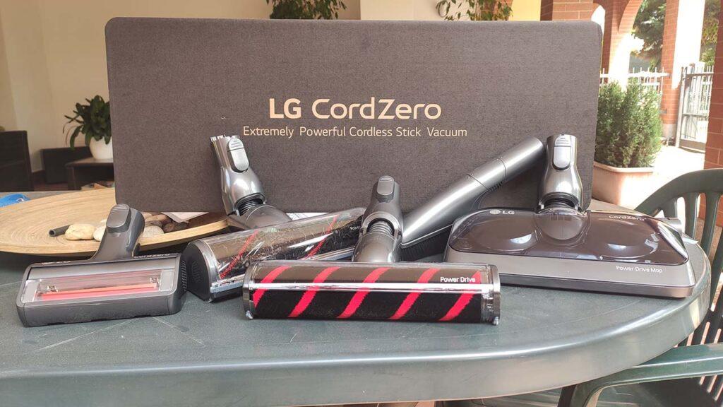 LG CordZero A9 Kompressor recensione spazzole