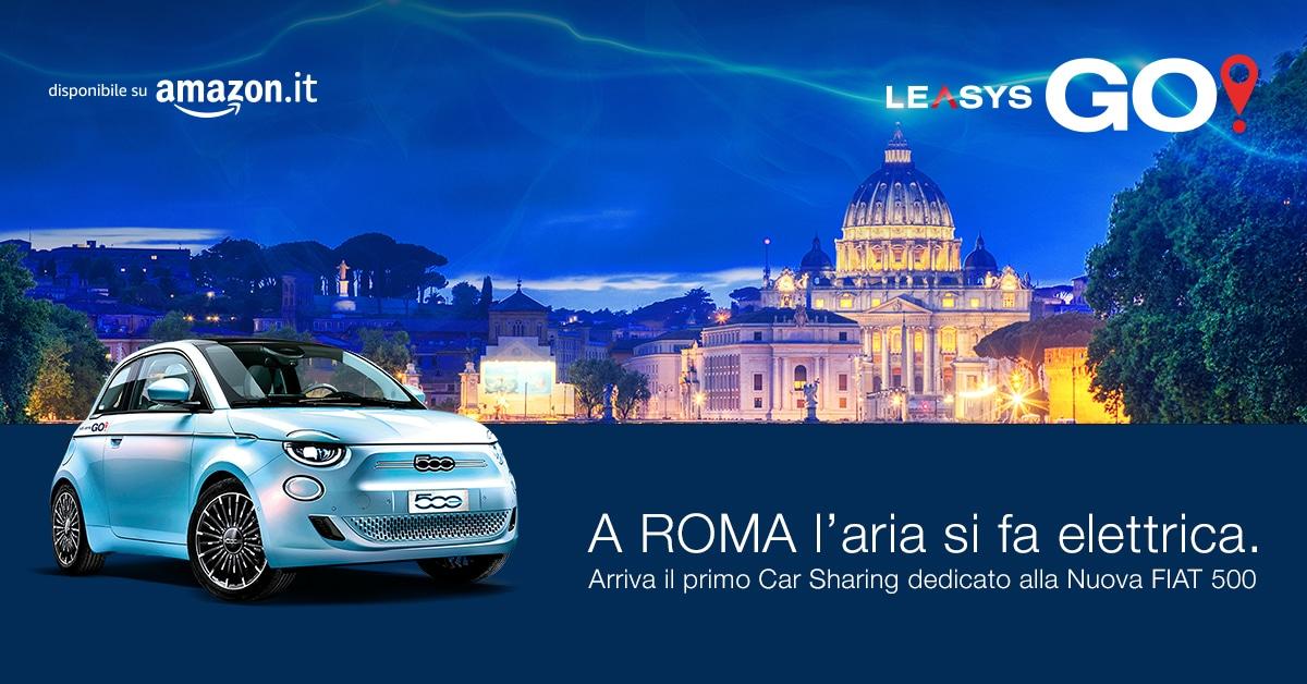 LeasysGO! arriva a Roma, il car sharing dedicato sulla nuova 500 elettrica thumbnail