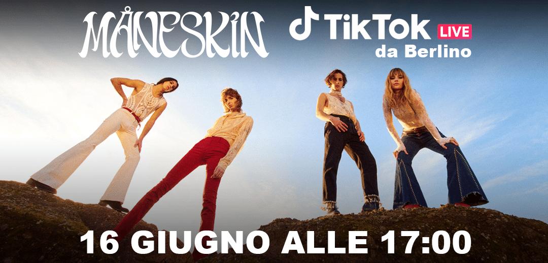 Maneskin sbarcano su TikTok: e la band festeggia con un live thumbnail