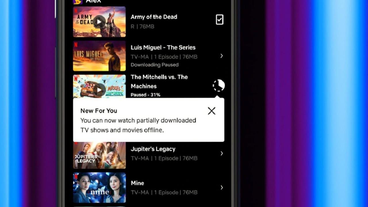 Arrivano i download parziali sull'app Android di Netflix thumbnail