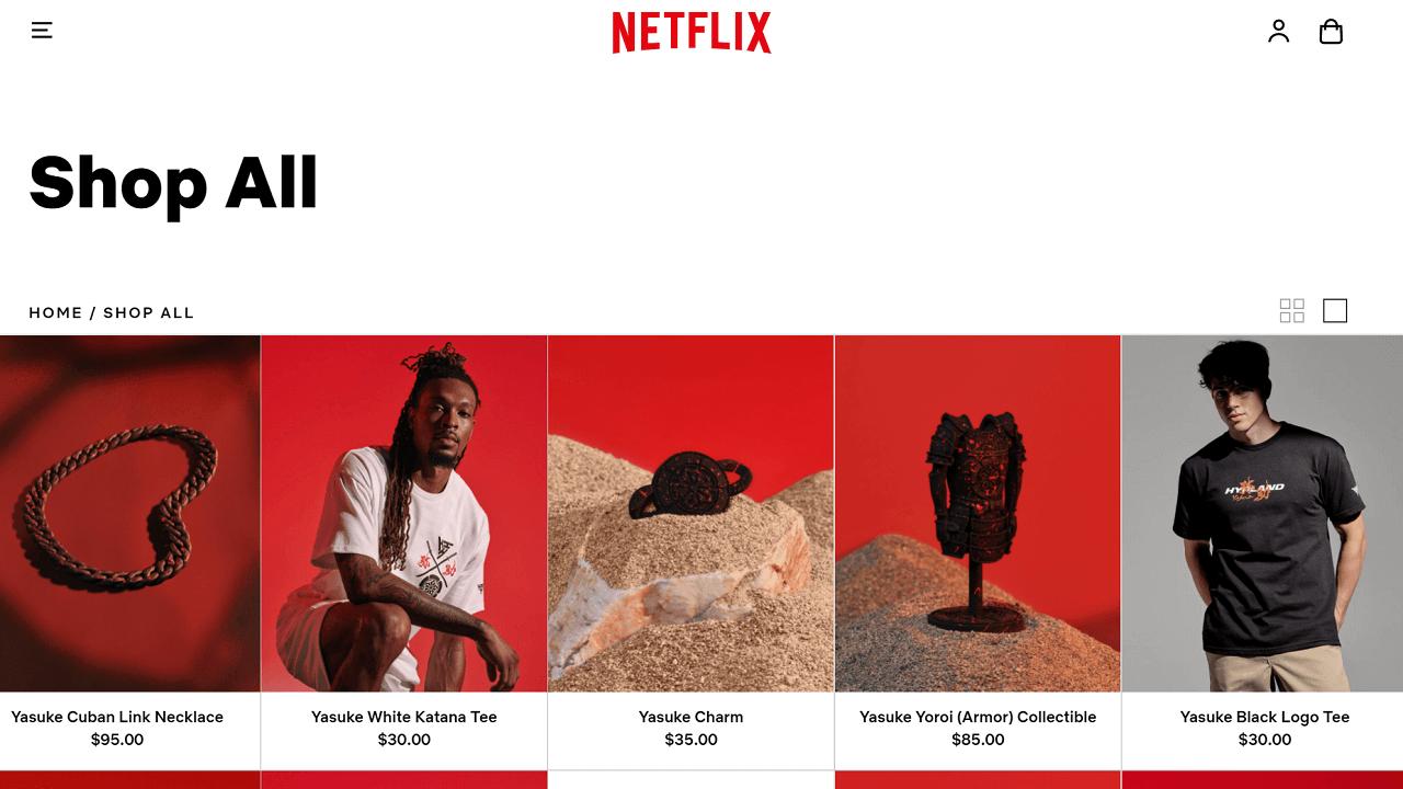 Netflix lancia il suo negozio online thumbnail