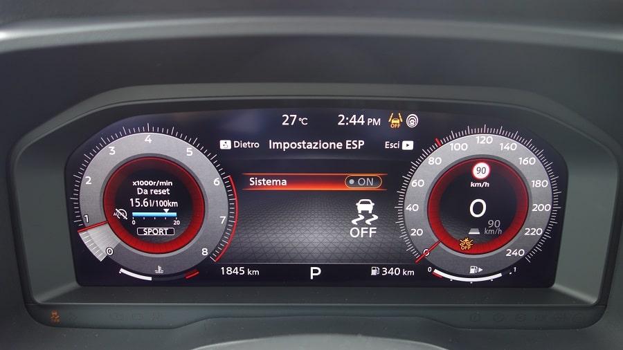 Nissan Qashqai 2021 quadro strumenti