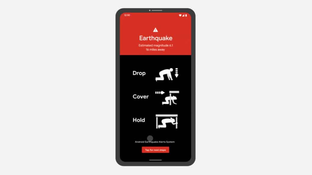 novità android 2021 rilevamento terremoti