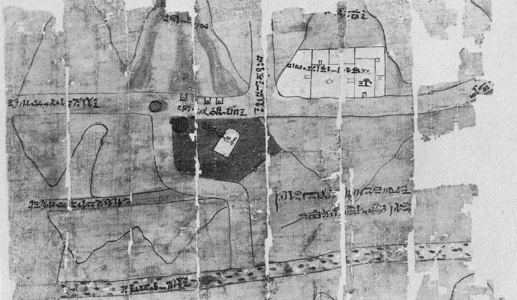 cartografia Papiro delle miniere d'oro