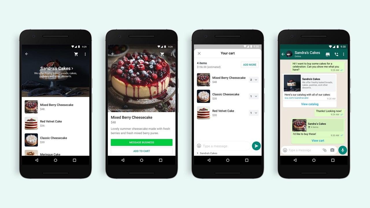 Facebook espande Shops a WhatsApp thumbnail