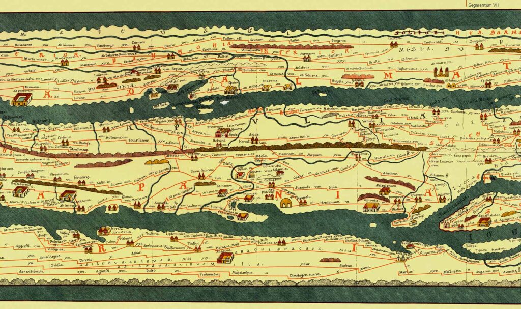 cartografia Tabula Peutingeriana