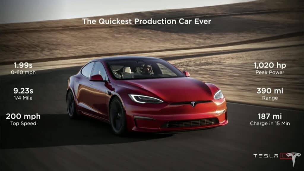 Tesla Model S Plaid potenza