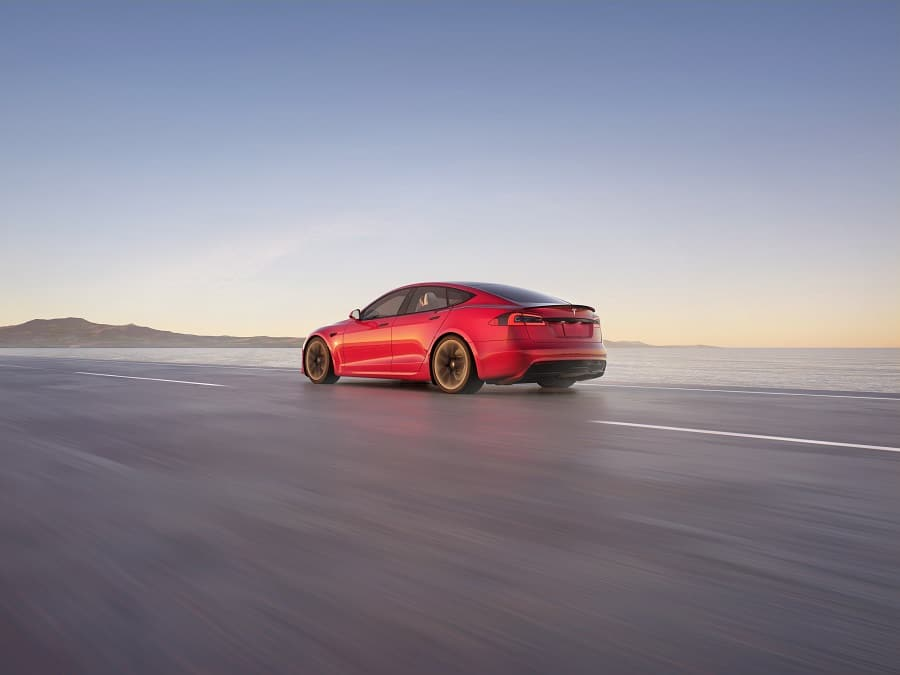 Tesla model S plaid+ retro