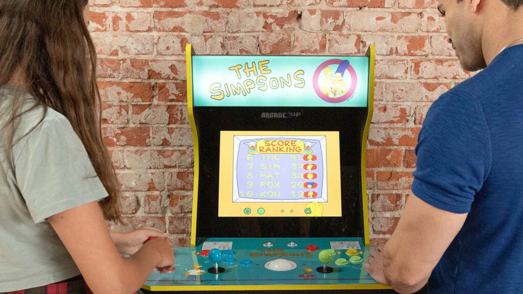 the Simpsons arcade cabinet arcade1up
