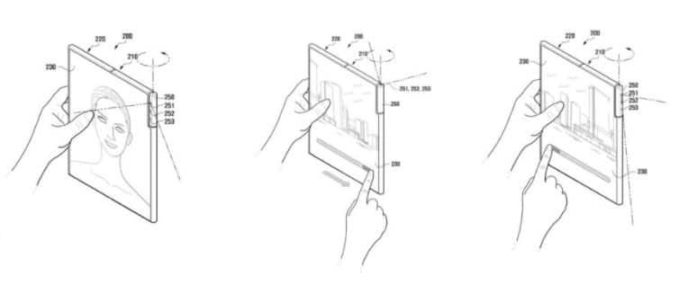 samsung fotocamera rotante per smartphone pieghevole-min