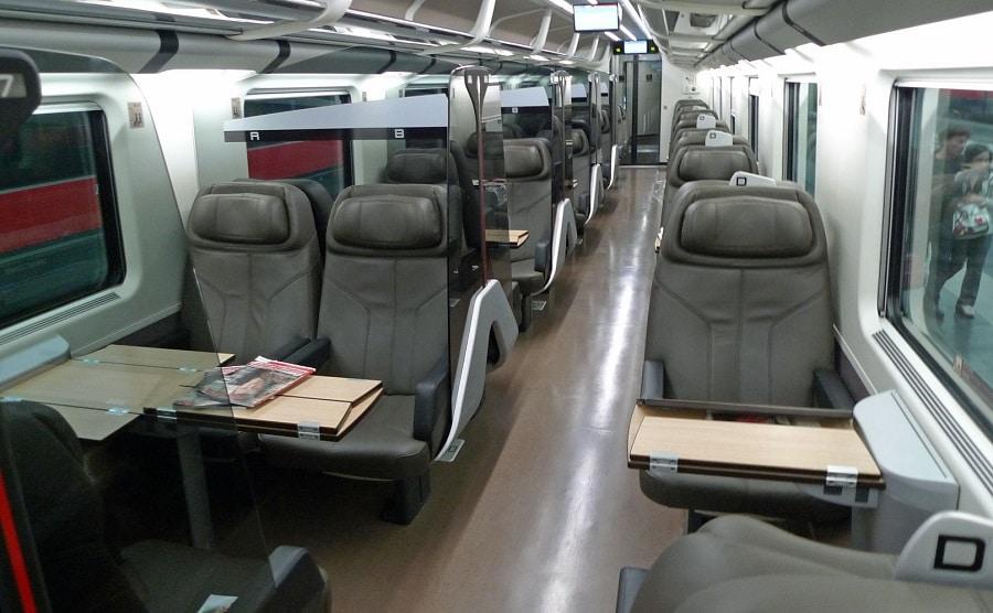torino-roma aereo treno frecciarossa sedili