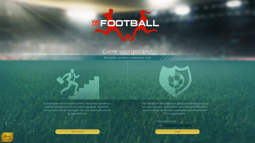 we are football scelta