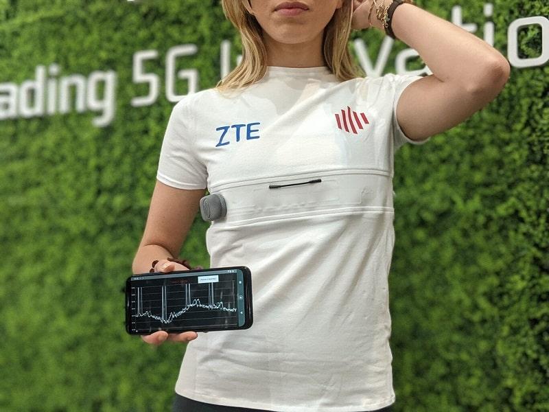 zte youcare t-shirt intelligente per la salute-min