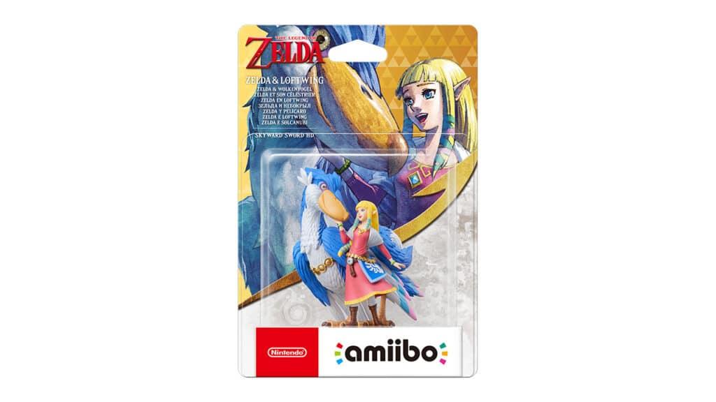 Amiibo Zelda e solcanubi blu