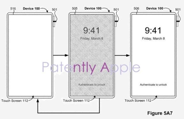 Apple iPhone touch ID laterale