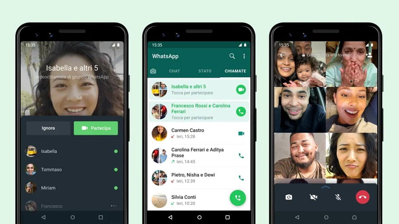 WhatsApp, arriva un'importante funzionalità per le chiamate di gruppo thumbnail