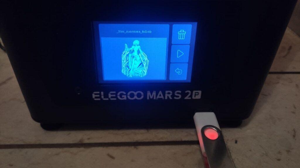 Elegoo Mars Pro 2 recensione monitor