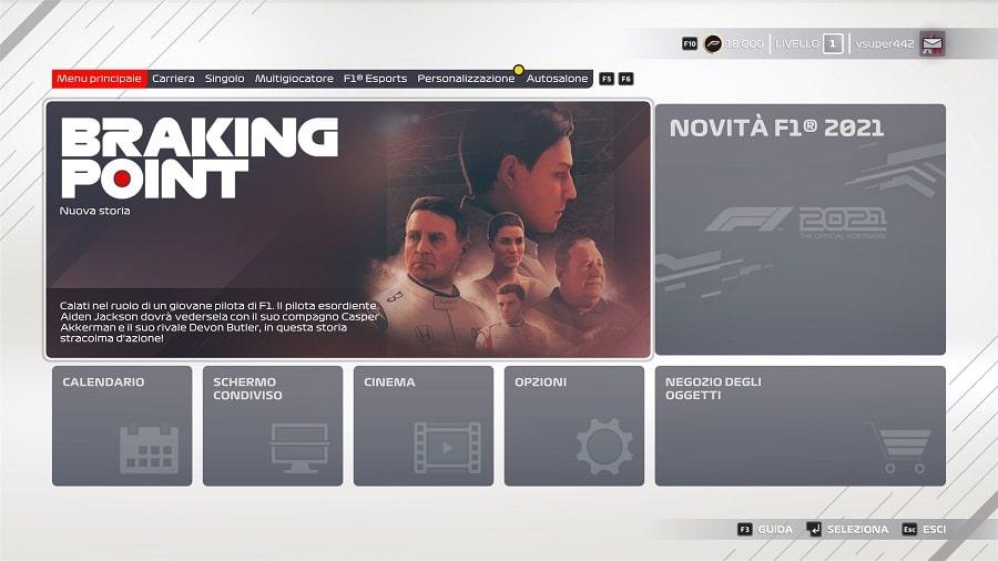 F1 2021 recensione braking point