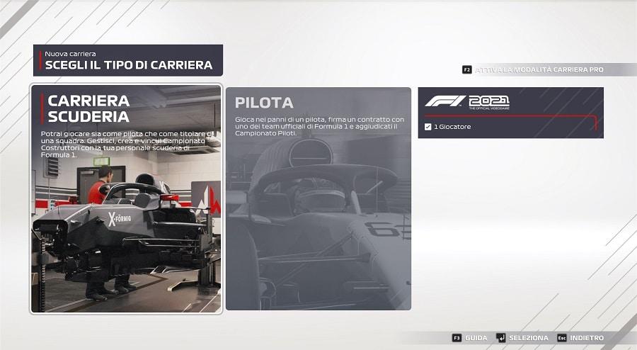 F1 2021 recensione modalità carriera