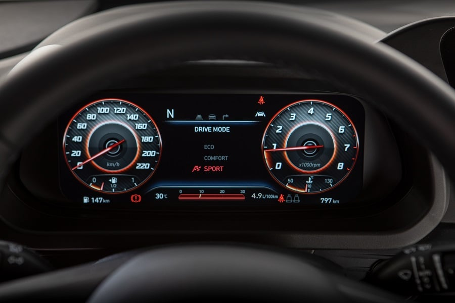Hyundai Bayon Sport mode