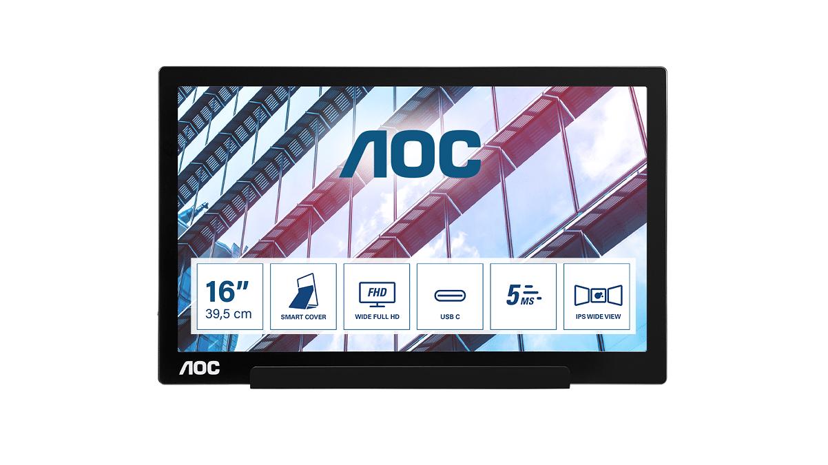 AOC svela un nuovo monitor portatile da 15.6 pollici thumbnail