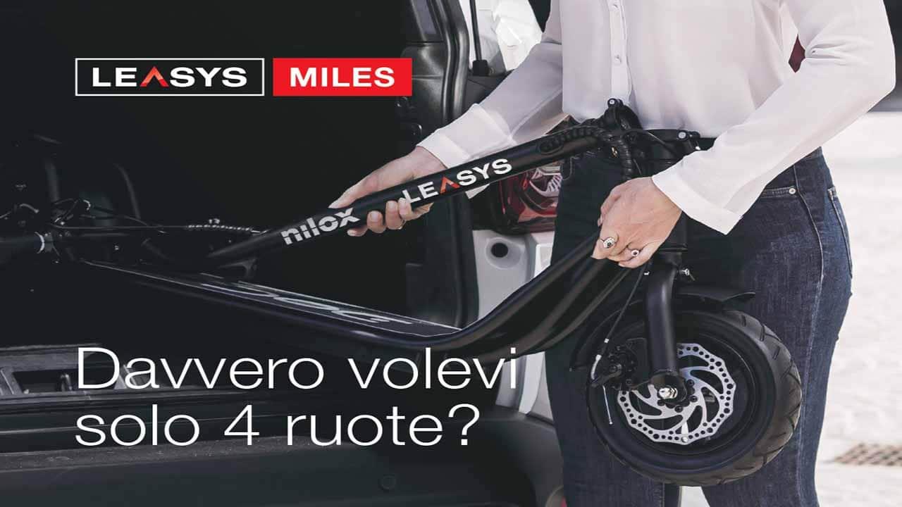 Leasys Miles: nel canone incluso il monopattino elettrico Nilox thumbnail
