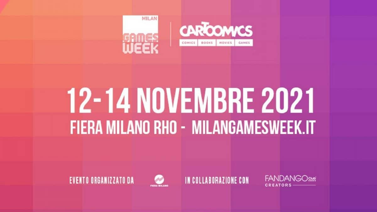 Milan Games Week & Cartoomics 2021: svelate le date dell'evento live thumbnail