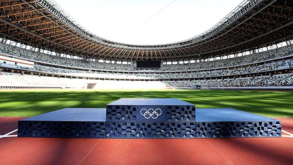 Olimpiadi Tokyo 2020 podio riciclato