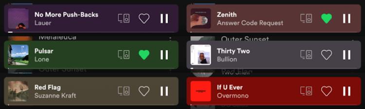 Spotify App mini player