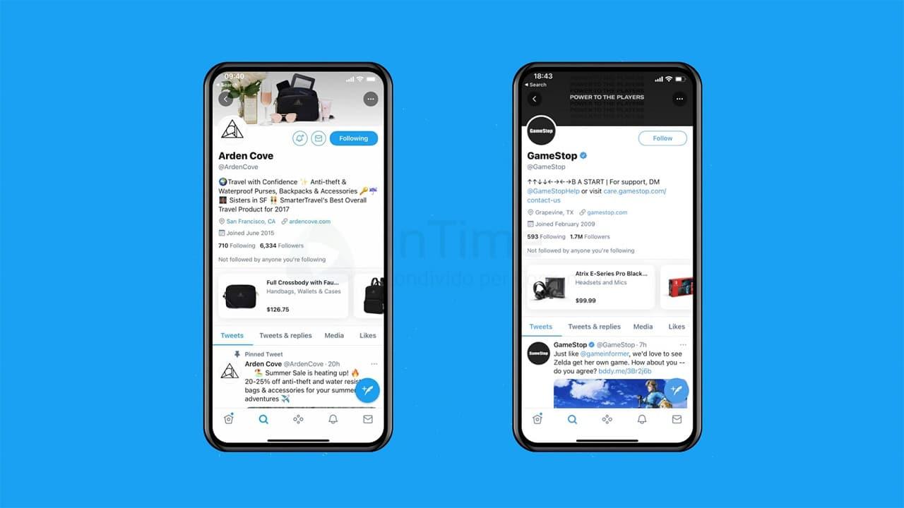Twitter inizia a testare la funzione shopping thumbnail