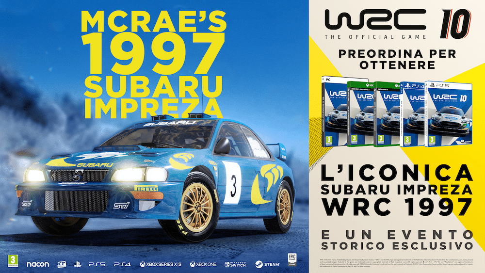 WRC 10: KT Racing presenta ufficialmente l'Anniversary Mode
