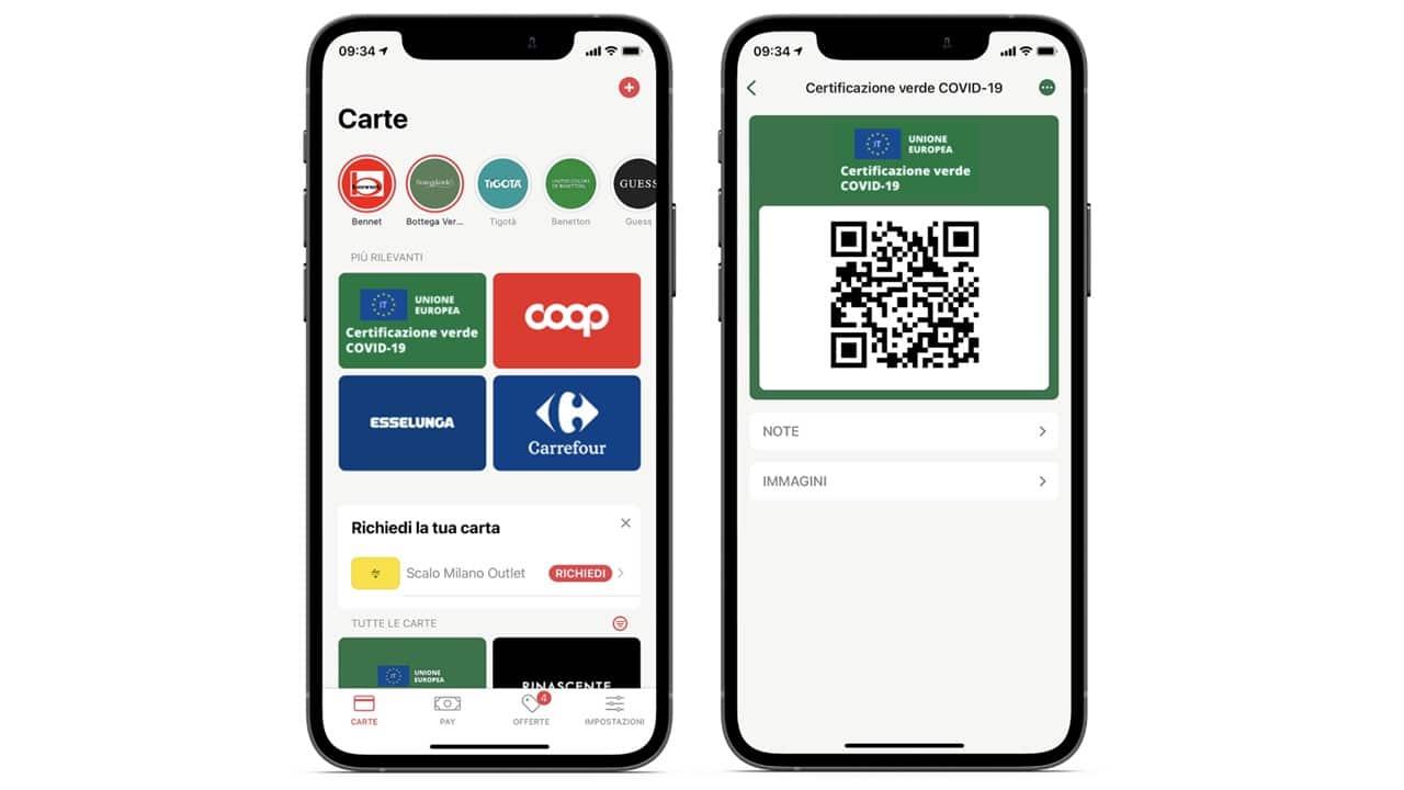 Il Green Pass si può salvare direttamente sull'app grazie a Stocard thumbnail
