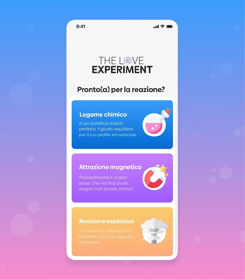 love experiment once algoritmo