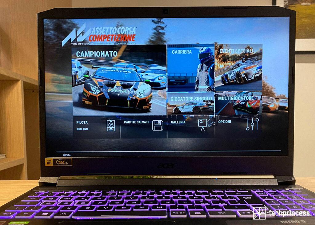 Acer Nitro 5 2021 recensione display