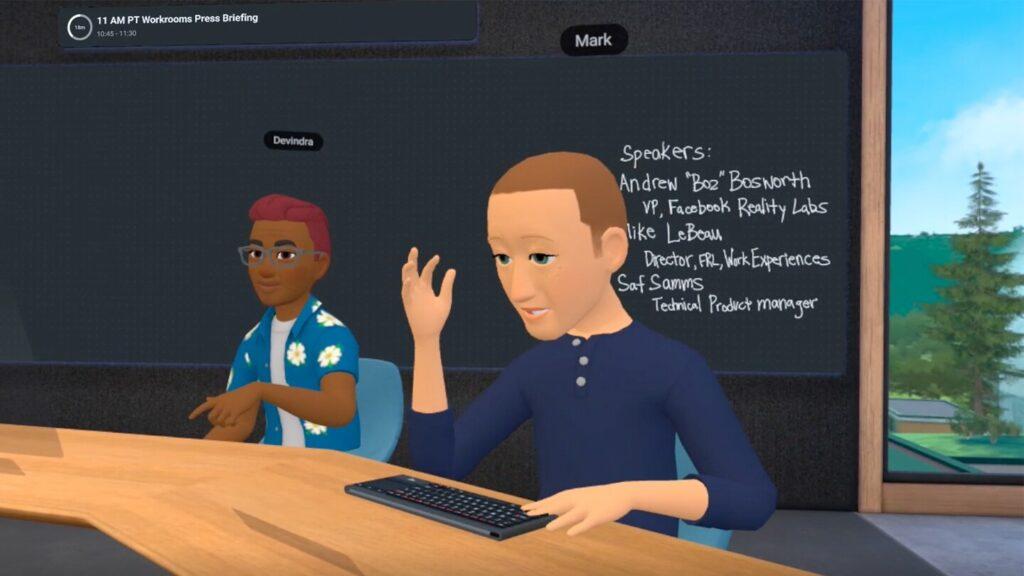 Horizon Workrooms Zuckerberg