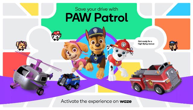 PAW Patrol e Waze
