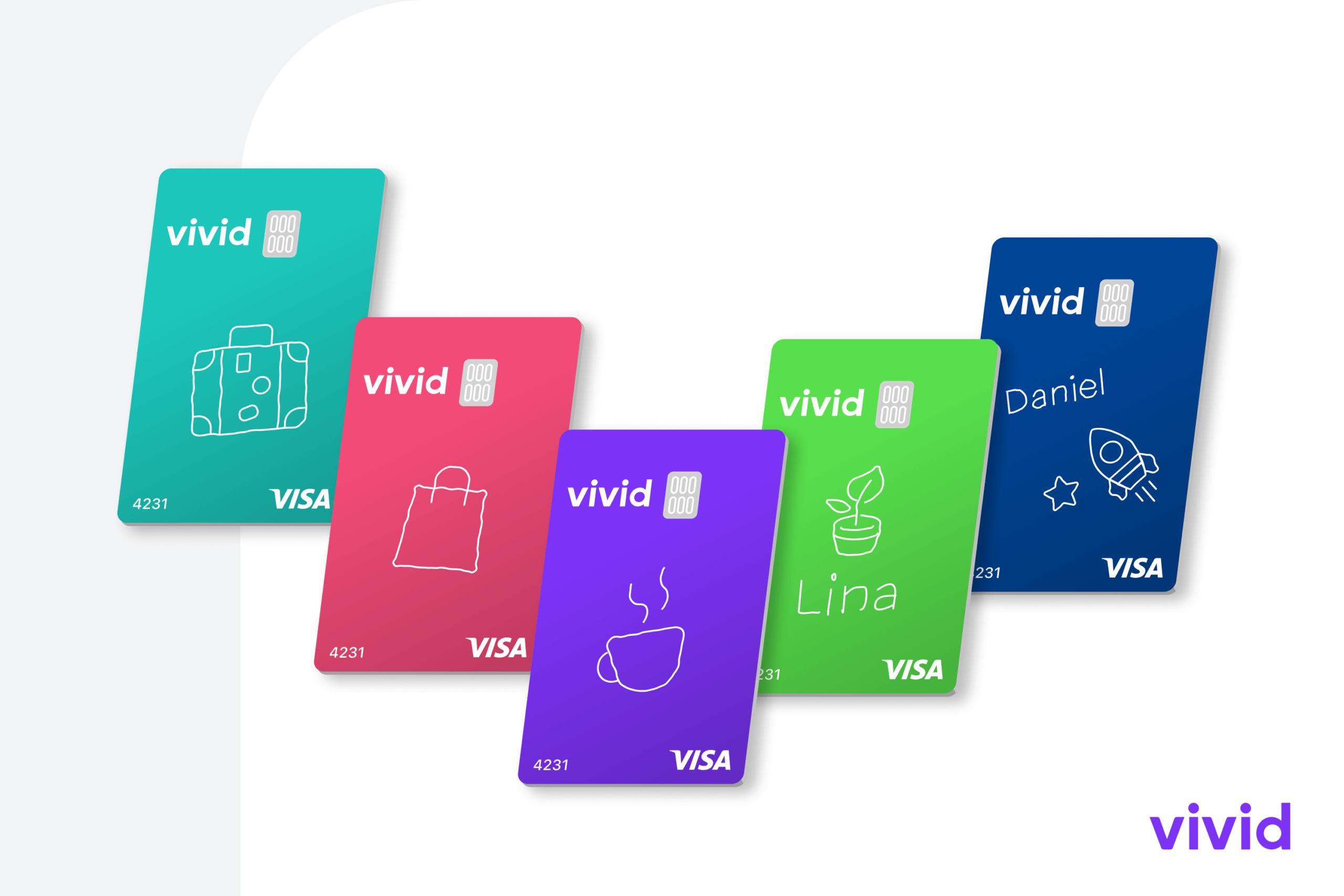 Vivid introduce le carte personalizzabili per pagamenti più colorati thumbnail