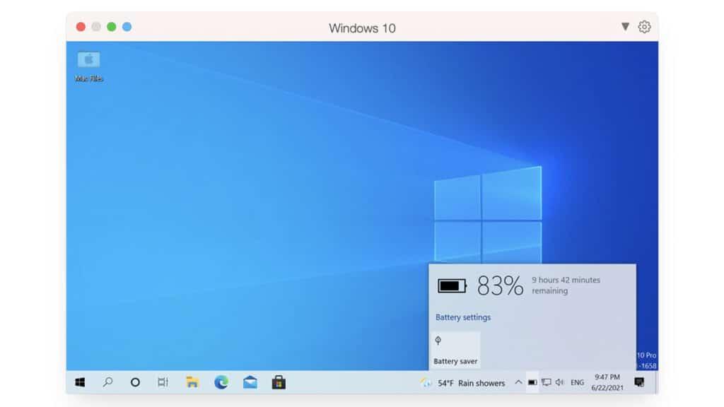 Parallels Desktop 17 per Mac - risparmio energetico