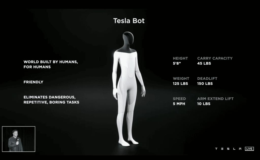 Tesla Bot, il robot umanoide di Elon Musk