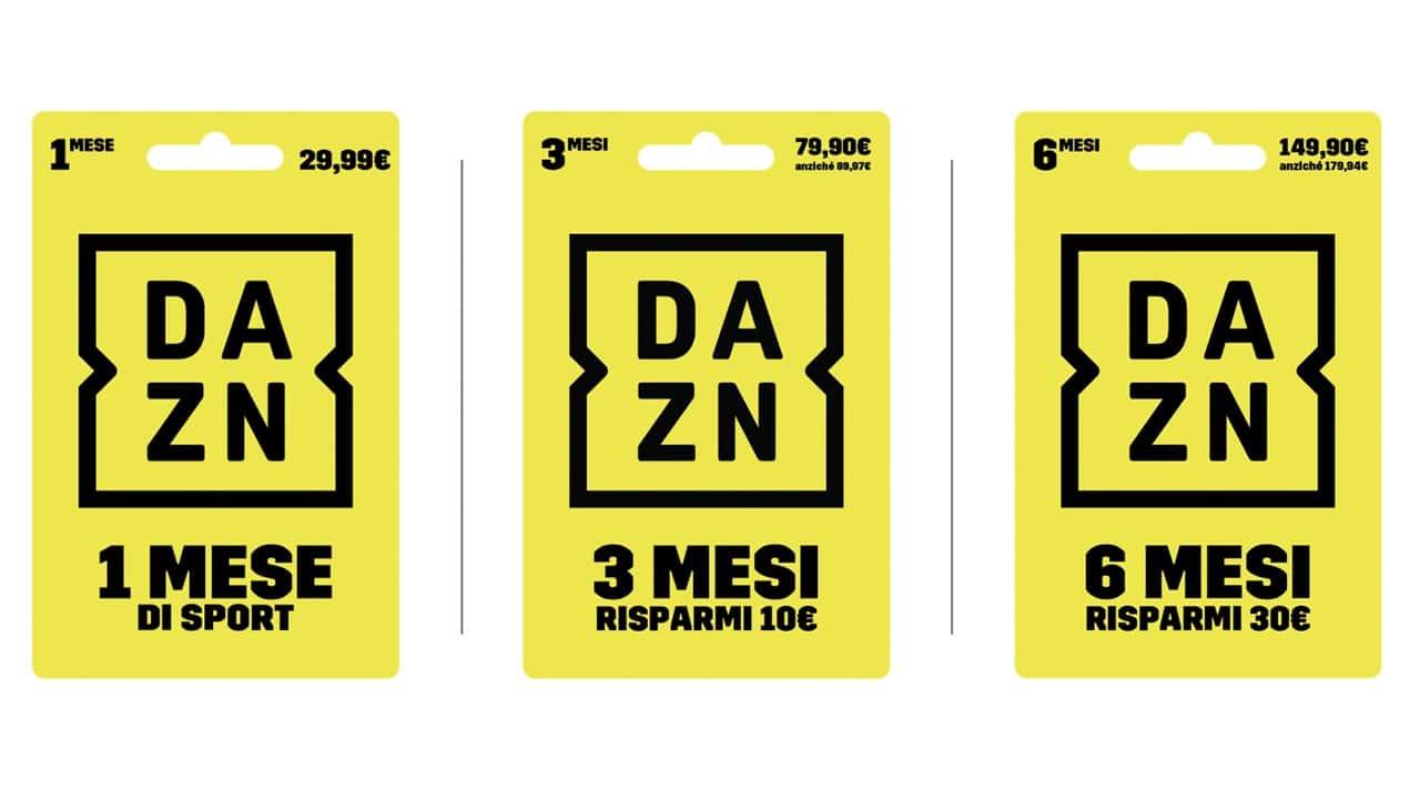 Carte e codici prepagati DAZN: quali sono e dove trovarli thumbnail