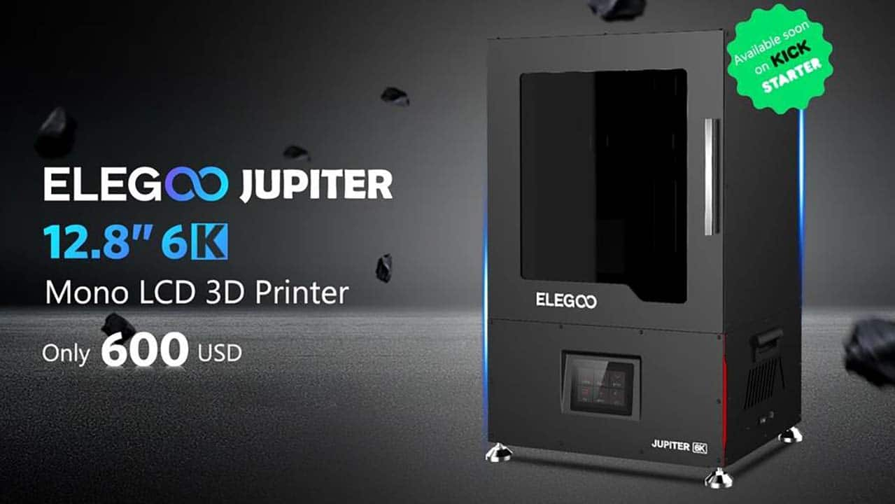 Elegoo Jupiter: una nuova stampante 3D su Kickstarter thumbnail